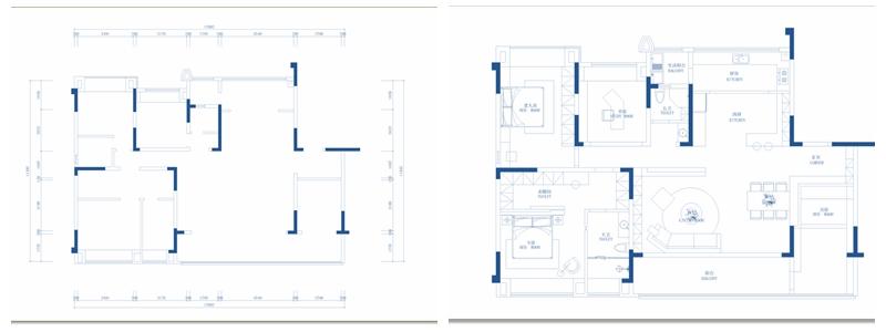 餐厅竟然用柜子设计隐形门!这120㎡素简新中式,百万用户都给满分!(图3)